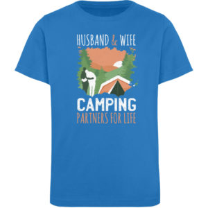 Husband & Wife Camping Partners For Life - Kinder Organic T-Shirt-6886