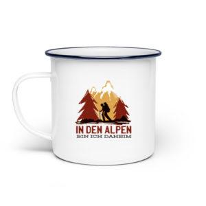 In den Alpen bin ich daheim Geschenkidee - Emaille Tasse-3