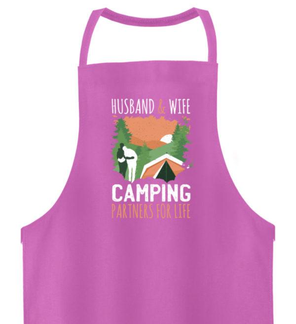 Husband & Wife Camping Partners For Life - Hochwertige Grillschürze-5759