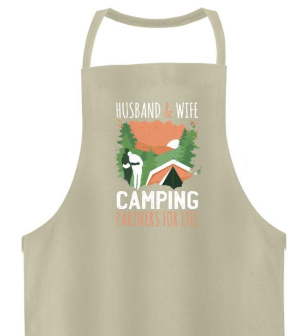 Husband & Wife Camping Partners For Life - Hochwertige Grillschürze-1131