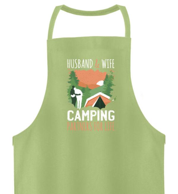 Husband & Wife Camping Partners For Life - Hochwertige Grillschürze-6860