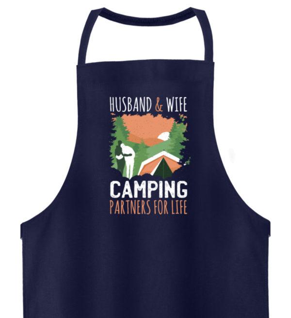 Husband & Wife Camping Partners For Life - Hochwertige Grillschürze-198