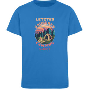 Spruch Sauberes Capingshirt Geschenkidee - Kinder Organic T-Shirt-6886