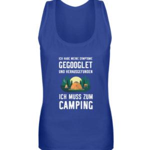 Symptome Camping | Geschenkid - Frauen Tanktop-27