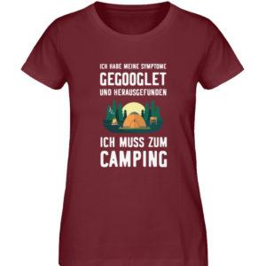 Symptome Camping | Geschenkid - Damen Premium Organic Shirt-6883