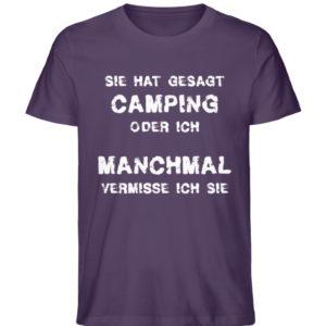 Camping oder ich | Geschenkidee - Herren Premium Organic Shirt-6884