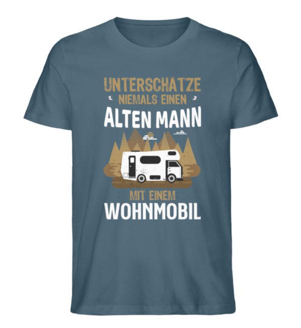 "Camper Wohnmobil ""Alter Mann"" - Shirt - Herren Premium Organic Shirt-6895"