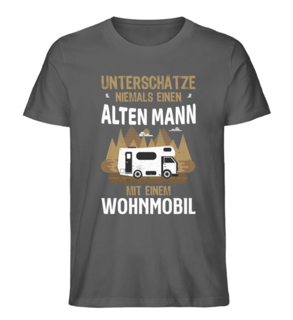 "Camper Wohnmobil ""Alter Mann"" - Shirt - Herren Premium Organic Shirt-6896"