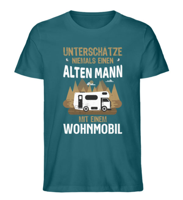 "Camper Wohnmobil ""Alter Mann"" - Shirt - Herren Premium Organic Shirt-6889"