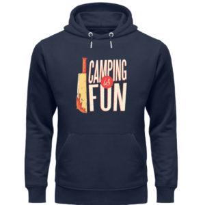 Camping is Fun Schürze - Unisex Organic Hoodie-6887