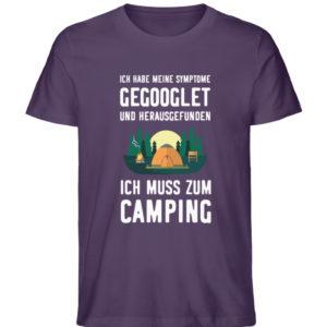 Symptome Camping | Geschenkid - Herren Premium Organic Shirt-6884