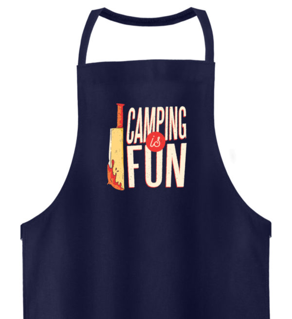Camping is Fun Schürze - Hochwertige Grillschürze-198