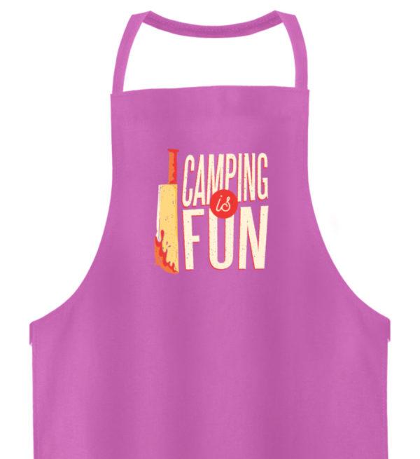 Camping is Fun Schürze - Hochwertige Grillschürze-5759