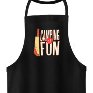 Camping is Fun Schürze - Hochwertige Grillschürze-16