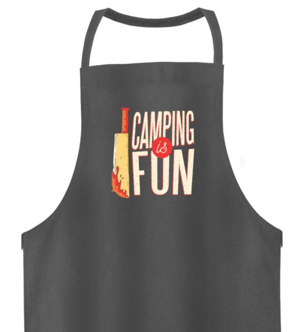 Camping is Fun Schürze - Hochwertige Grillschürze-6778