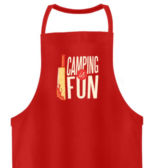 Camping is Fun Schürze - Hochwertige Grillschürze-1565