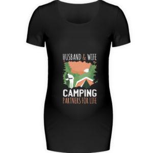 Husband & Wife Camping Partners For Life - Schwangerschafts Shirt-16