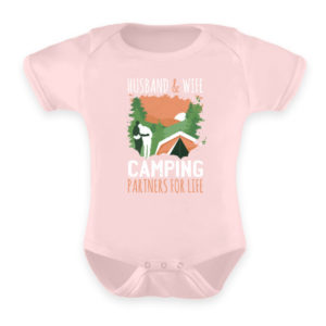 Husband & Wife Camping Partners For Life - Baby Body-5949