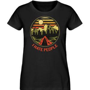 I Hate People Camper-Design - Damen Premium Organic Shirt-16