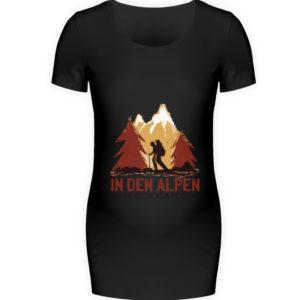 In den Alpen bin ich daheim Geschenkidee - Schwangerschafts Shirt-16