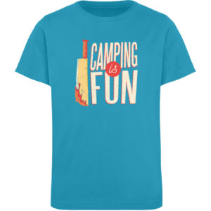 Camping is Fun Schürze - Kinder Organic T-Shirt-6885