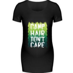 Camp Hair Don-t Care Geschenkidee - Schwangerschafts Shirt-16