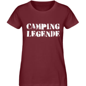 Camping Legende Geschenkidee Camper - Damen Premium Organic Shirt-6883