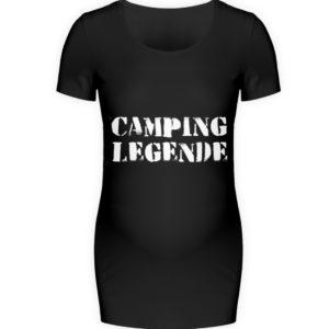 Camping Legende Geschenkidee Camper - Schwangerschafts Shirt-16