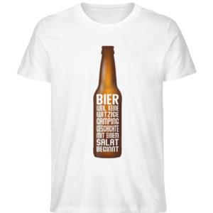 Bier Campinggeschichte | Geschenkidee - Herren Premium Organic Shirt-3