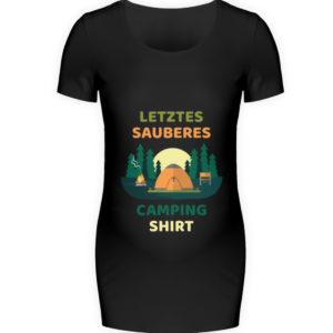 Letztes sauberes Camping Shirt Geschenk - Schwangerschafts Shirt-16