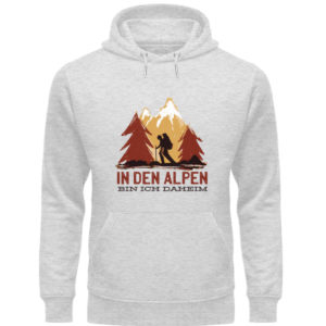 In den Alpen bin ich daheim Geschenkidee - Unisex Organic Hoodie-6892