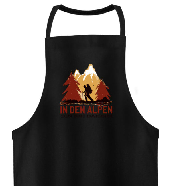 In den Alpen bin ich daheim Geschenkidee - Hochwertige Grillschürze-16