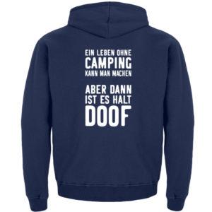 Leben ohne Camping doof | Geschenkidee - Kinder Hoodie-1676
