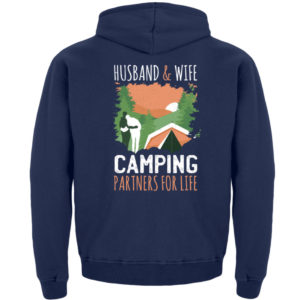 Husband & Wife Camping Partners For Life - Kinder Hoodie-1676