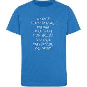 Vom Campingstuhl gefallen | Geschenkidee - Kinder Organic T-Shirt-6886