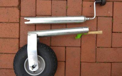 Stützrad beim Wohnwagen wechseln