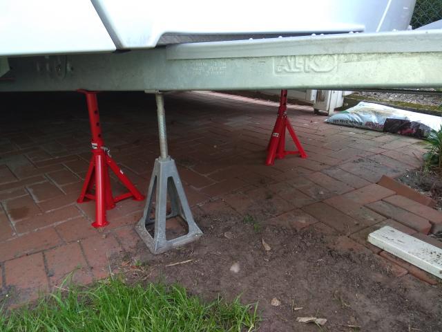 Cool Camping Blog Stützrad Wohnwagen wechseln