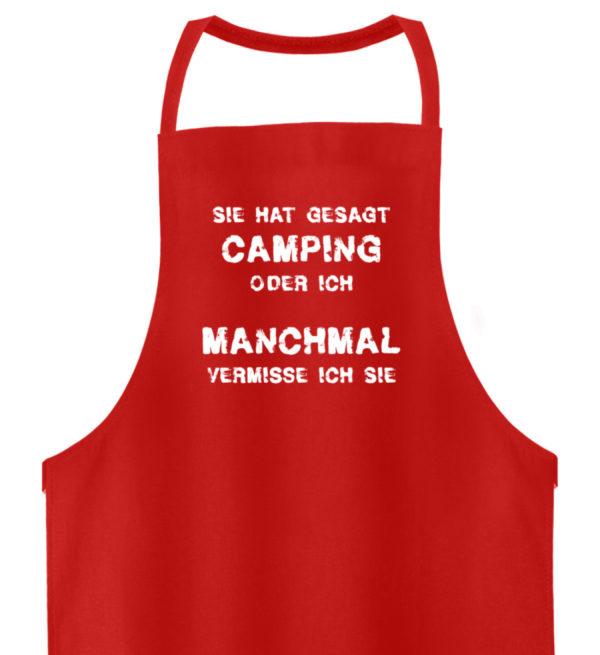 Camping oder ich | Geschenkidee - Hochwertige Grillschürze-1565