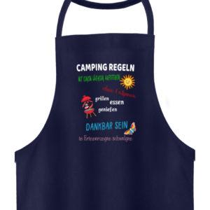 """Camper-Outfit mit """"Camping-Regeln"""" - Hochwertige Grillschürze-198"""