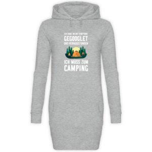 Symptome Camping | Geschenkid - Damen Hoodie-Kleid-6807