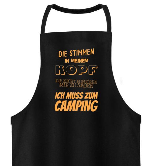 Stimmen in meinem Kopf Muss zum Camping - Hochwertige Grillschürze-16