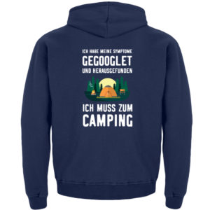 Symptome Camping | Geschenkid - Kinder Hoodie-1676