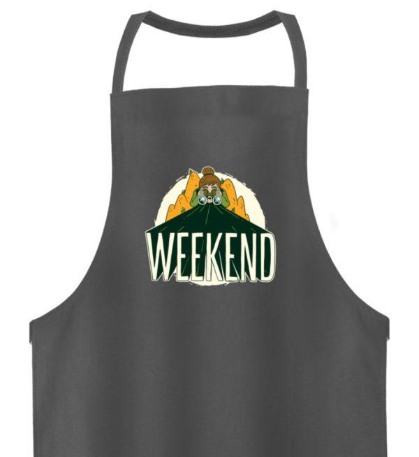 """Camper Outfit """"WEEKEND"""" Geschenkidee - Hochwertige Grillschürze-6778"""